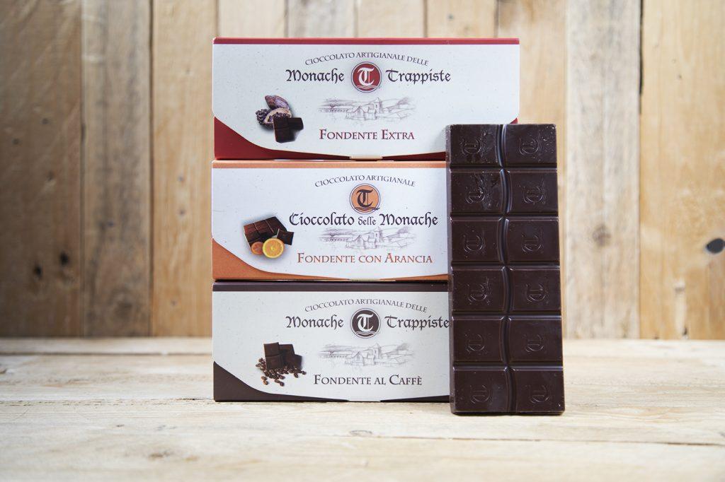 Tre varietà di cioccolato fondente