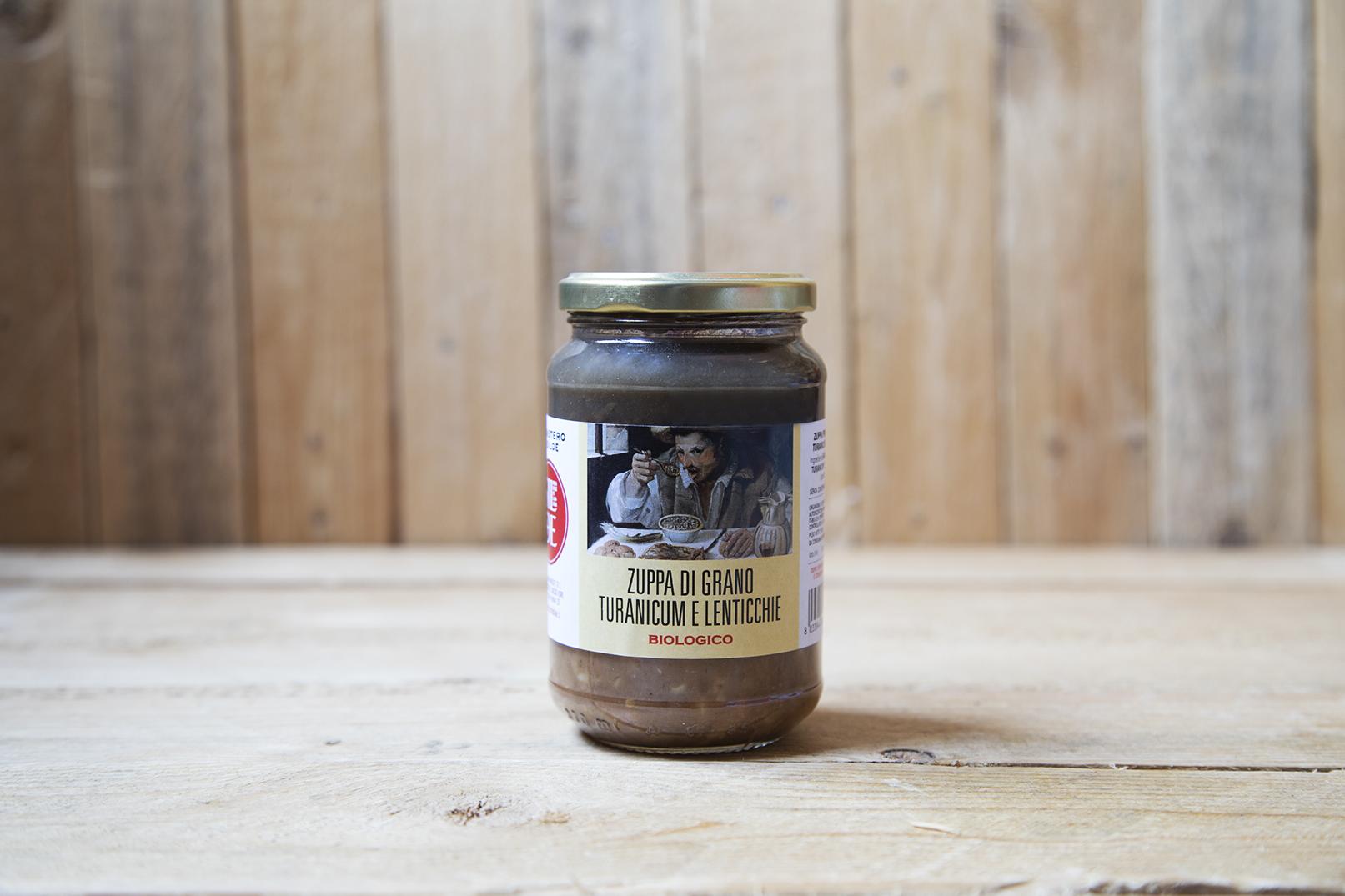 Zuppa di grano turanicum e lenticchie BIO
