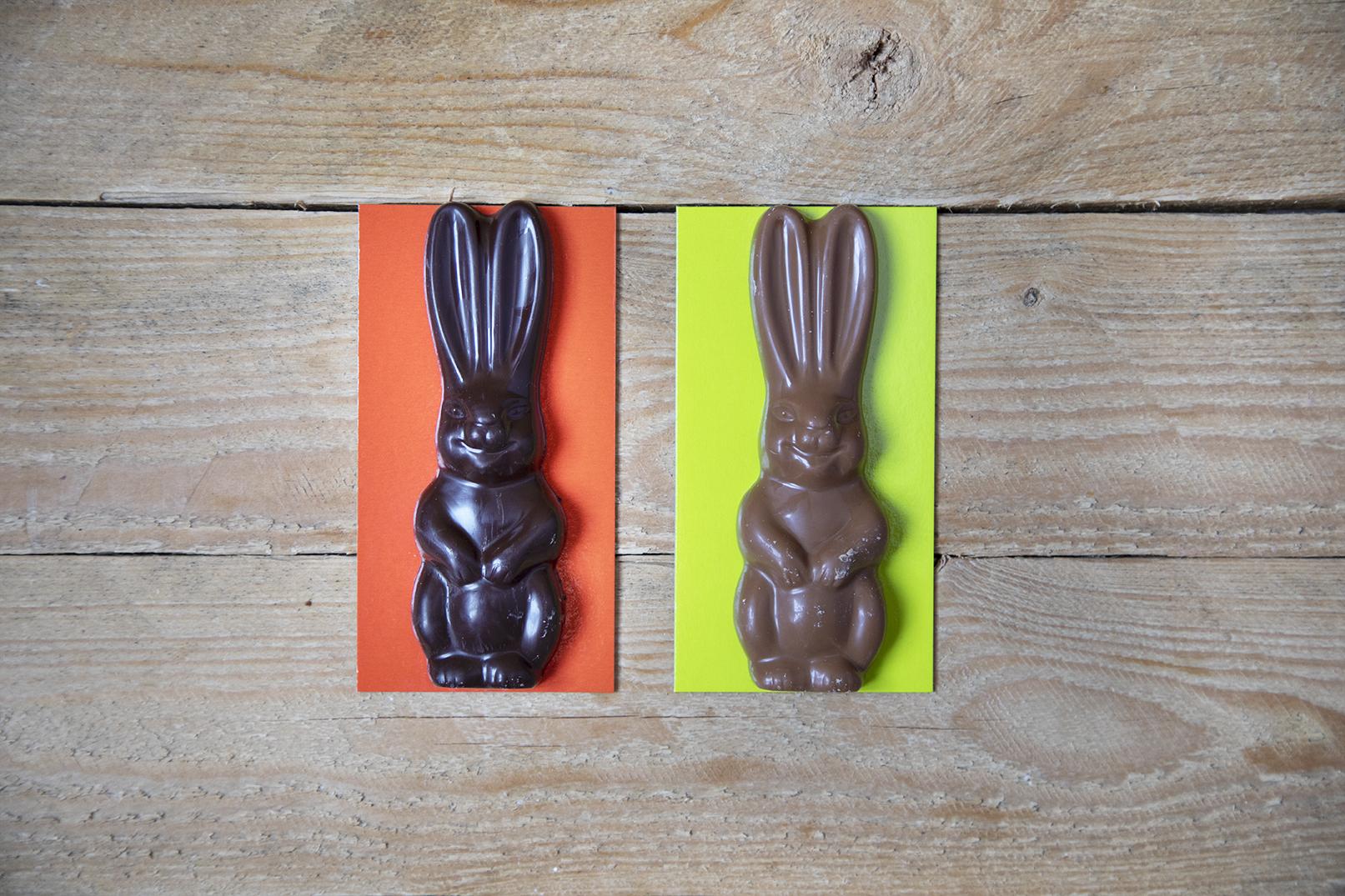 Coniglio di cioccolato fondente